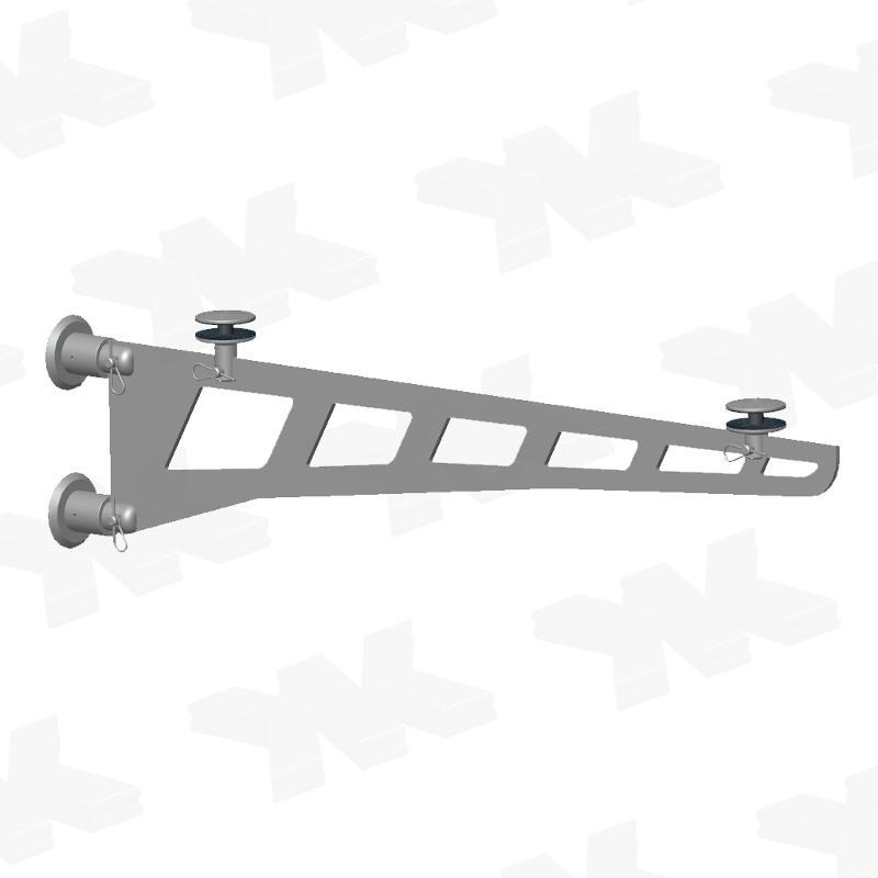 Sword canopy 2-part-set, large, length of sword: 1250 mm - Sword canopies