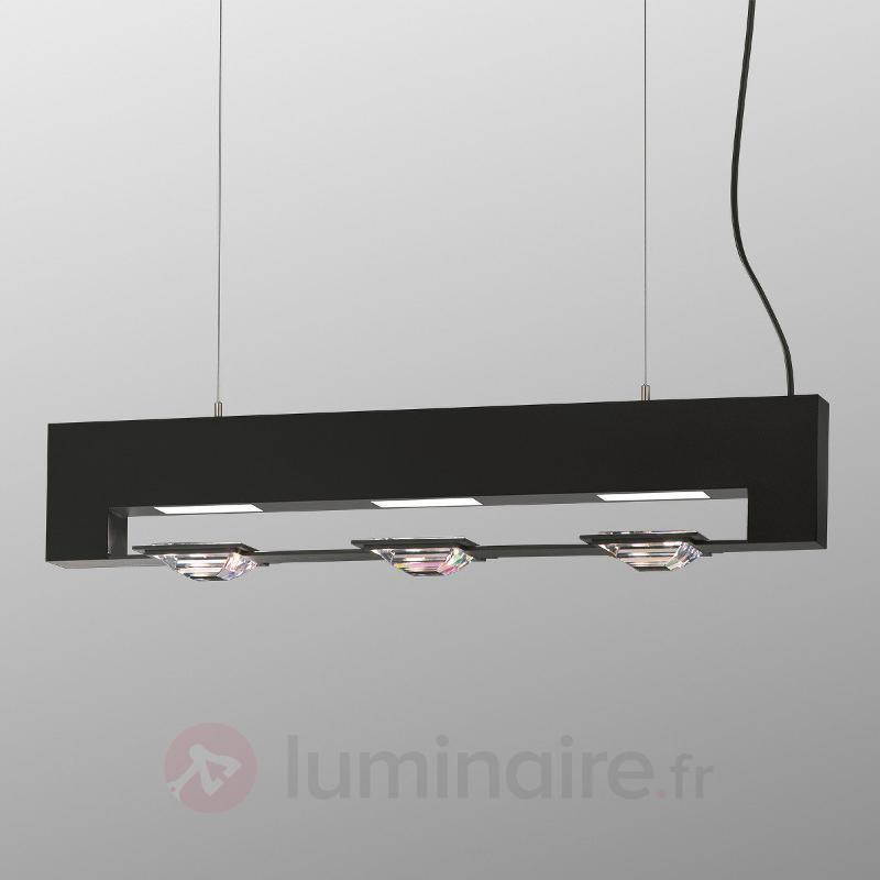 Madison - suspension Swarovski, noir, 3 lampes - Suspensions en cristal