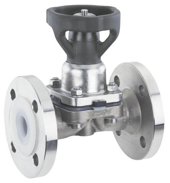 GEMÜ 653 - Válvula de diafragma de acionamento manual
