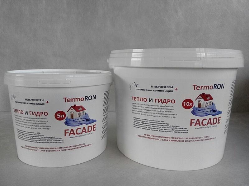 Жидкое теплоизоляционное покрытие ТермоРон Фасад