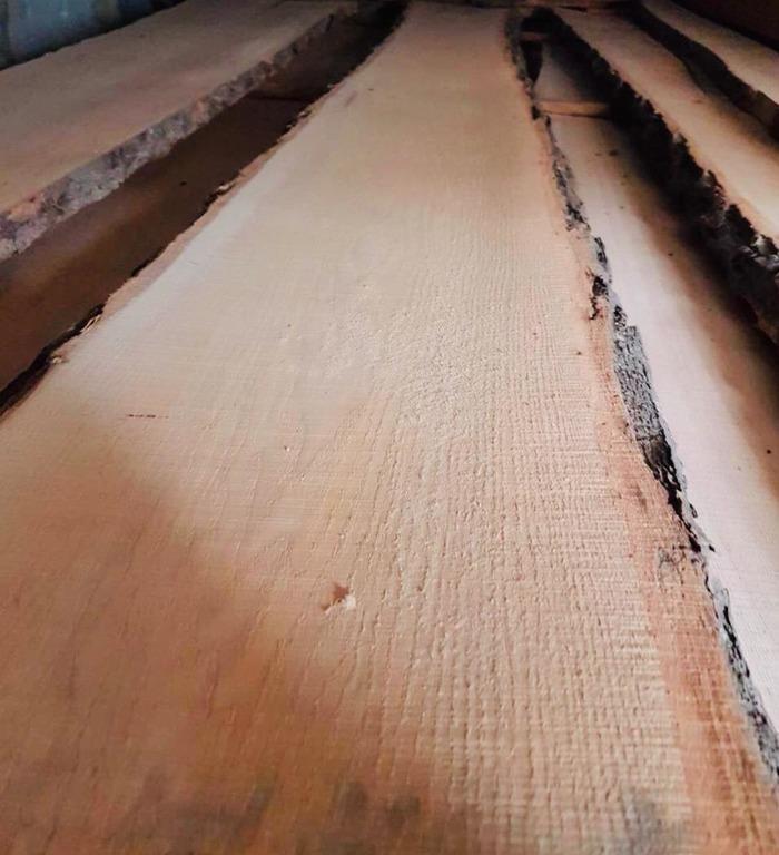 Доска дуба необрезная 50мм 3м АА/АВ сортов - технической сушки (влажность 8% +-2%)