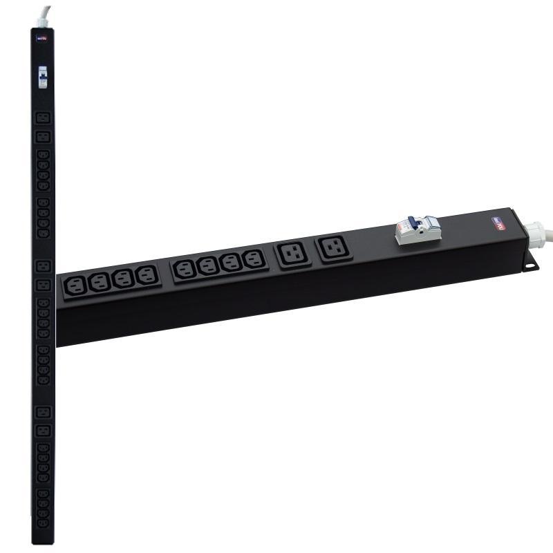 PDU Multipresa rack VERTICALE VDE Serie IEC 60320