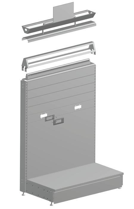 Modular shop rack systems & instore interior shelving design - Electric equipment