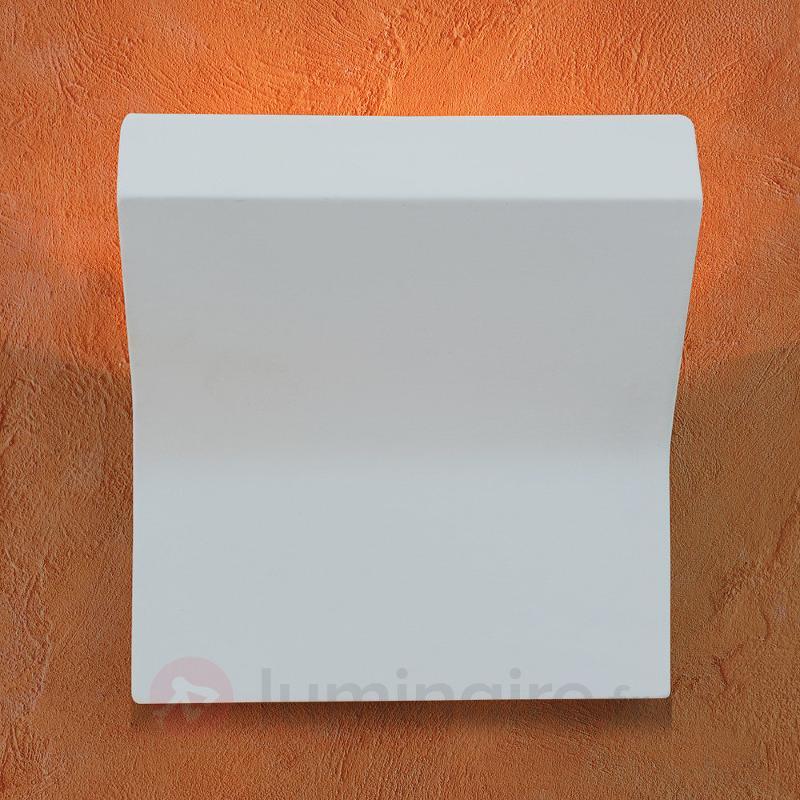 Applique de plâtre Inja blanche - Appliques en plâtre