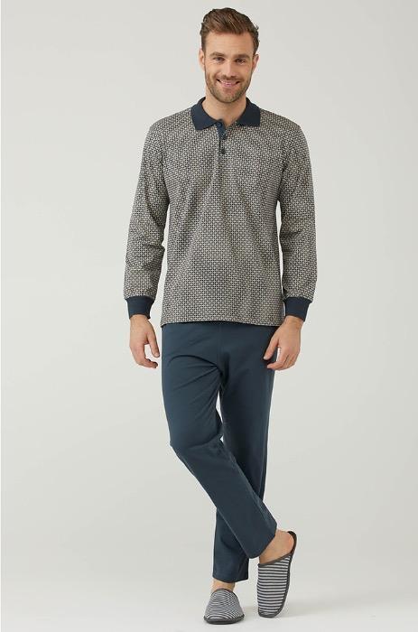 Men's Long Sleeve Pyjamas Set  -