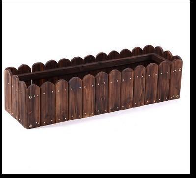 Special design wooden flowerpot - Wooden material