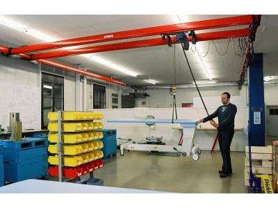 Sistema de puente grúa ligero KBK - Modular y flexible – para capacidades de hasta 3.200 kg - Demag KBK