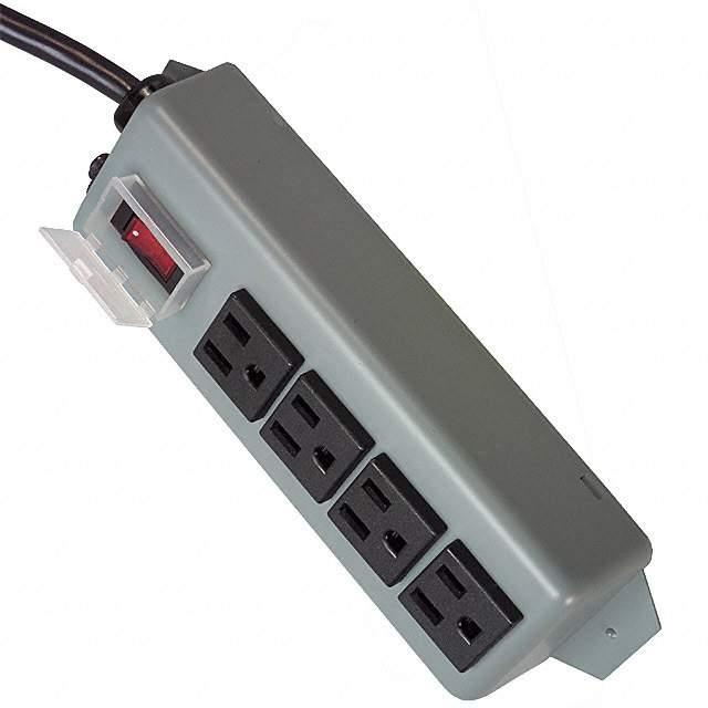 "POWER STRIP 7.38""15A 4OUT 6'CORD - Tripp Lite UL603CB-6"