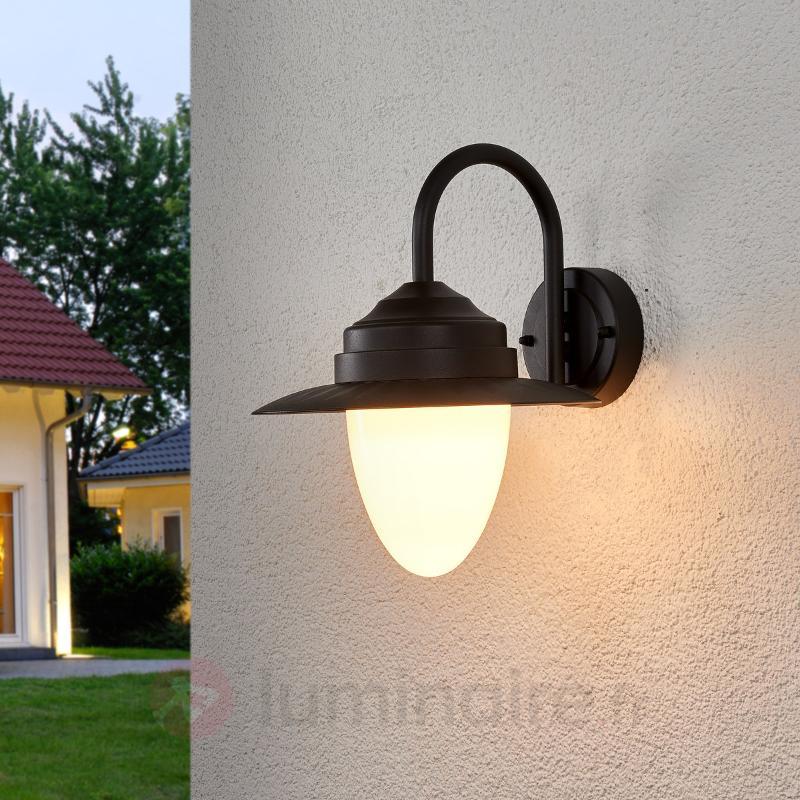 Beeke - applique extérieure LED en gris foncé - Appliques d'extérieur LED
