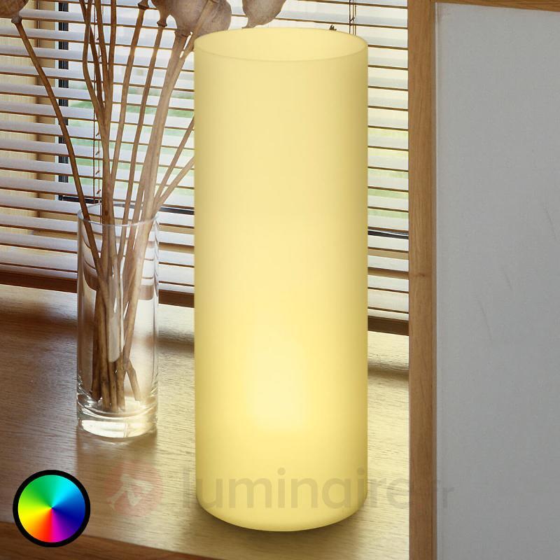 Lampe à poser LED RGBW tubulaire Elluno-C - Lampes à poser LED