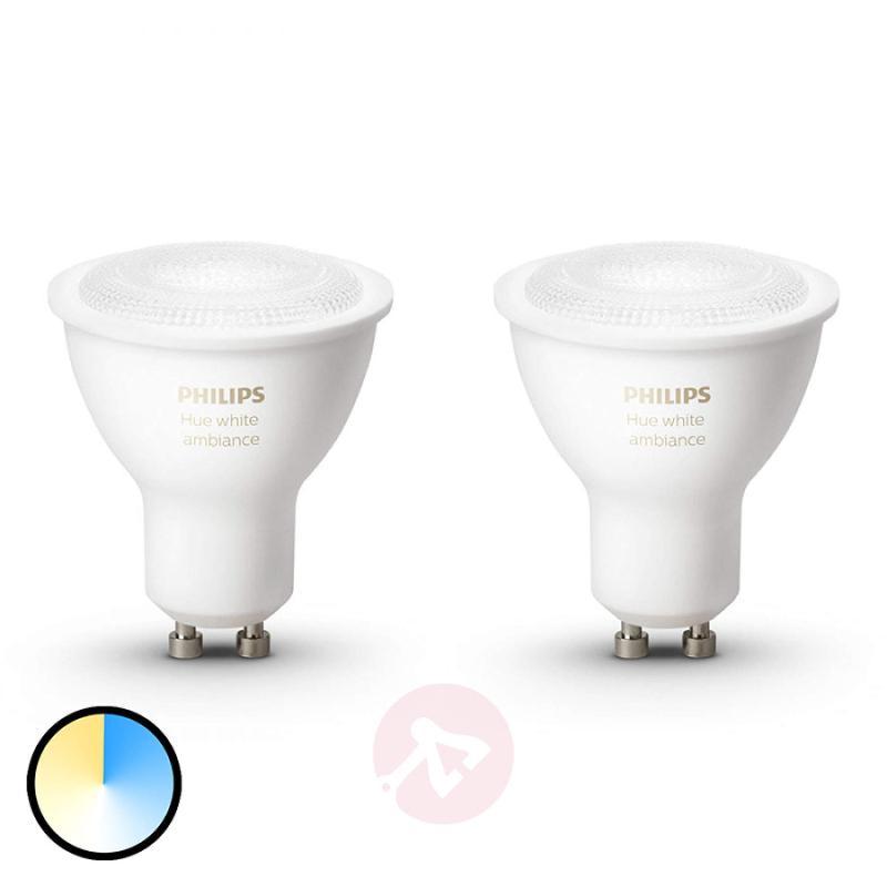 Philips HUE reflector White Ambiance GU10 2 x 5.5W - light-bulbs