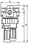 Pressure regulator Standard-mini , Size 0, G 1/4, 0.5... - Pressure regulators Standard-mini