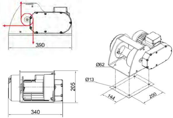 Treuils électriques - Treuil électrique Motorbox 300kg et 500kg