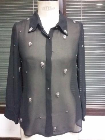 Ladies Embellished Viscose Shirt