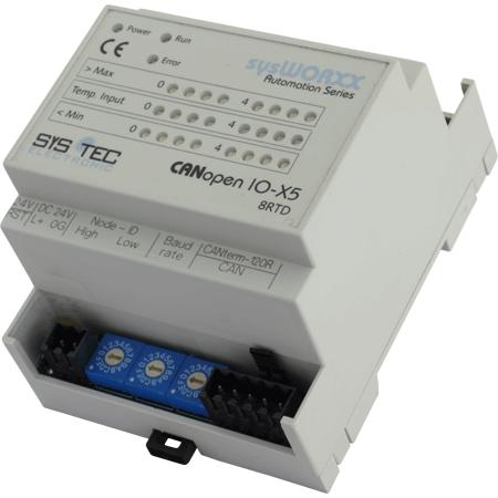 CANopen IO-X5, 8Temp (RTD) - Automation Components