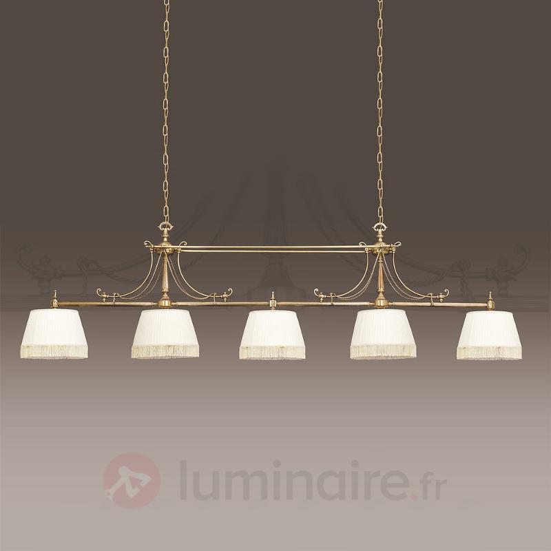 Suspension textile Sopia à 5 lampes - Suspensions en tissu