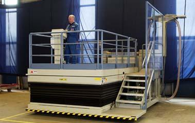 Inline lift platforms - Aeronautical industry Assembly platform