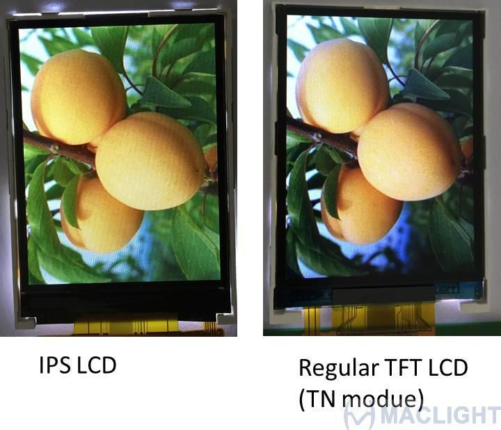 2.8 inch ips tft lcd display module sunlight readable - all viewing angle, 240RGBX320 pixels, RGB/SPI interface ILI9341,high brightness
