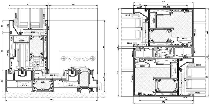 sliding-systems ponzio sliding-1600tt-hi-2 - aluminium-joinery