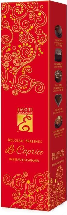 EMOTI Dark Chocolates, RED-GOLD 65g. SKU: 015309 -