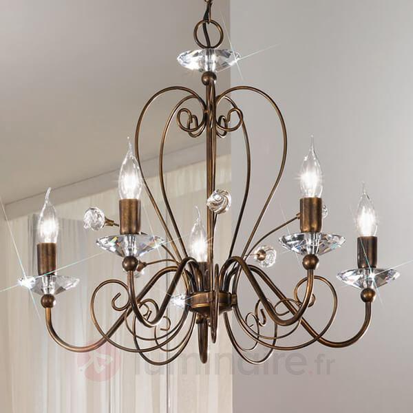Lustre à 5 lampes Rossana - Lustres classiques,antiques