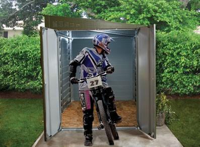 Abri moto métallique - null