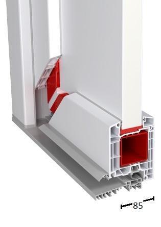 Rahmeneingangstür - Id 4000-70mm und Id 7000-85mm