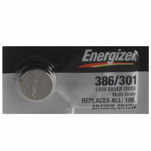 BATT SLVR OX 1.55V BUTTON 11.6MM - Energizer Battery Company 386-301TZ