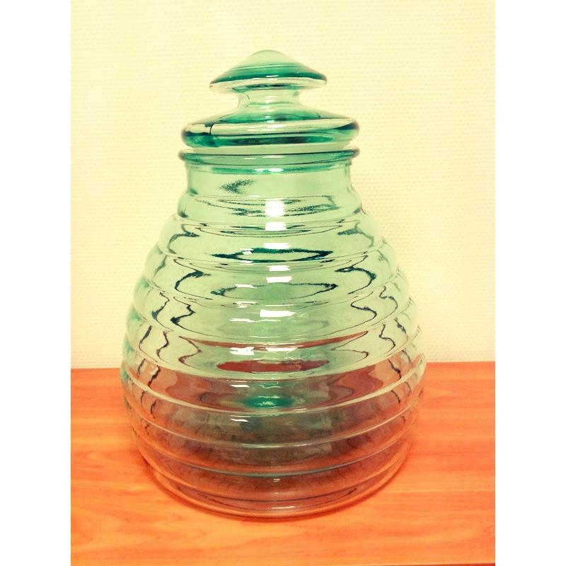 Candy jar Hive/Honey Pot - 11 liters in 100% recycled glass