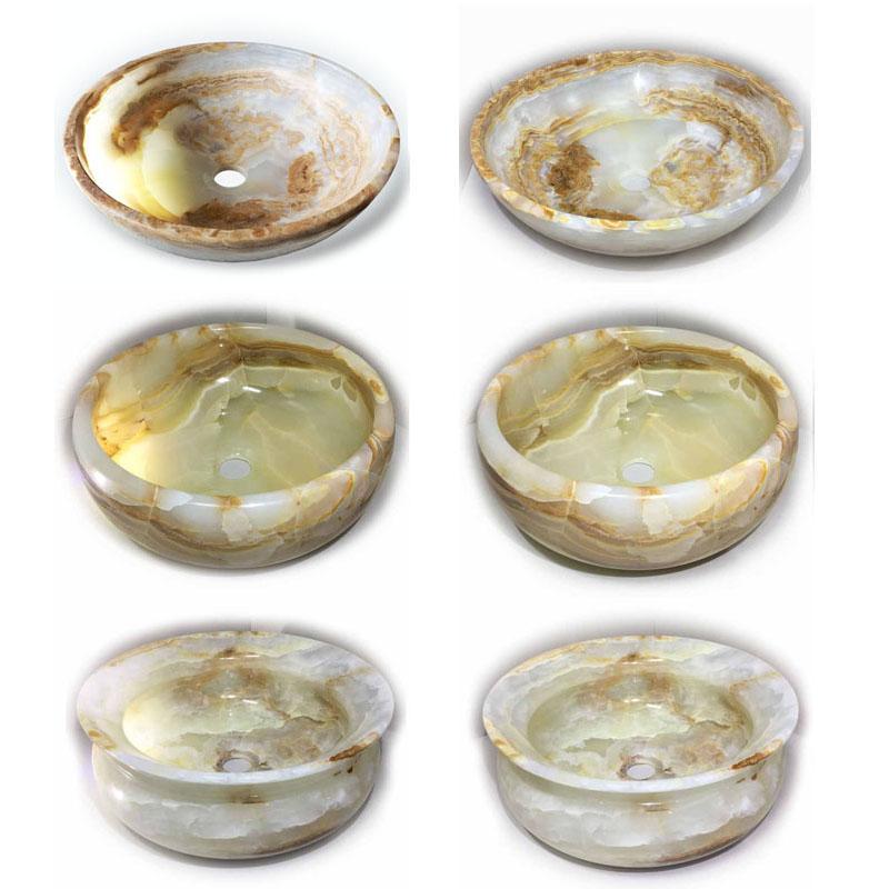 Waschbecken Aufsatzwaschbecken aus Naturstein Onyx - Waschbecken, Aufsatzwaschbecken aus Naturstein Onyx