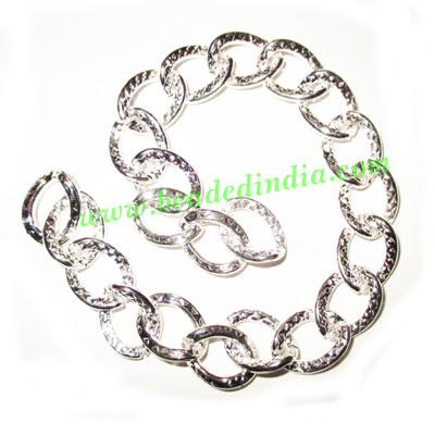 Silver Plated Metal Chain, size: 2x12mm, approx 8.1 meters i - Silver Plated Metal Chain, size: 2x12mm, approx 8.1 meters in a Kg.