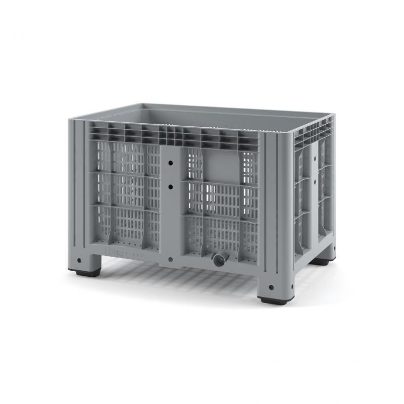 Plastic iBox Container 1200х800 (perforated, with legs) - Art.: 11.602.91.PE.C10