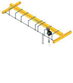 Gamme de ponts roulants manuels monopoutre posés - pour charge de 250 à 10 000 kg et portés jusqu'à 18 mètres