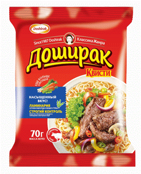 Quisty noodles  - ★ 5 gourmet flavor - beef, chicken, bacon, mushroom, seafood
