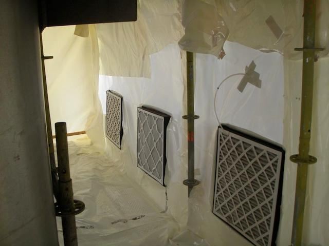 Polyethylene films - In asbestos removals decontamination