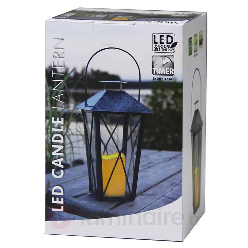 Lanterne noire Zinki avec bougie LED - Lampes décoratives d'intérieur