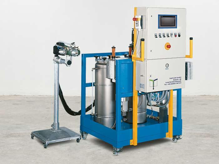 Nodopur | Dosier- und Mischanlage für flüssige Kunstharze - mit einem Ausstoß von bis zu 50 l/min (bis ca. 60.000 mPas)
