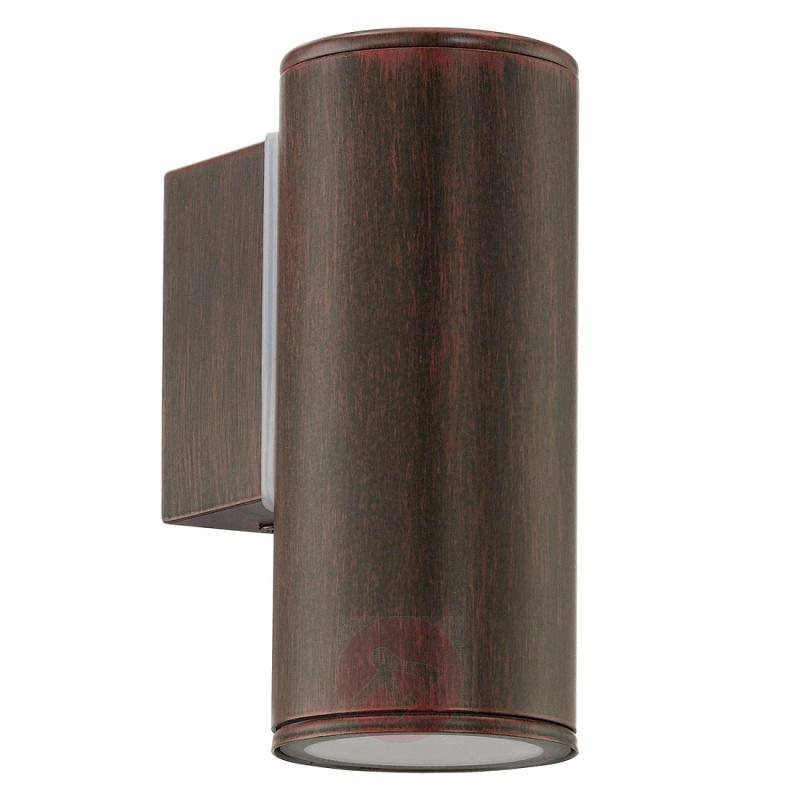 Riga LED outdoor wall lamp in antique brown - outdoor-led-lights