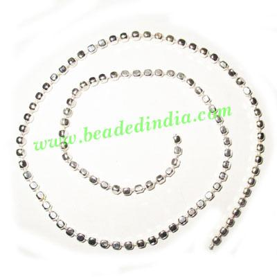 Silver Plated Metal Chain, size: 3mm, approx 39.1 meters in  - Silver Plated Metal Chain, size: 3mm, approx 39.1 meters in a Kg.