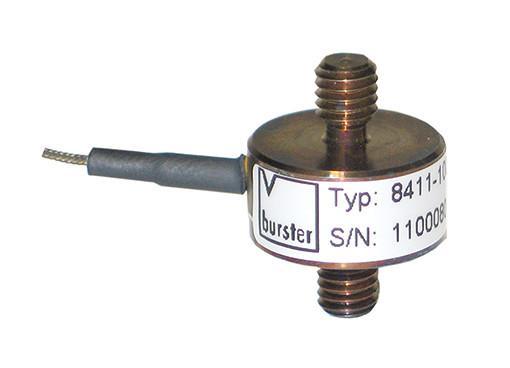 拉压力传感器 - 8411 - 非常紧凑,尺寸小,坚固耐用,适用于拉伸和压缩力,不锈钢