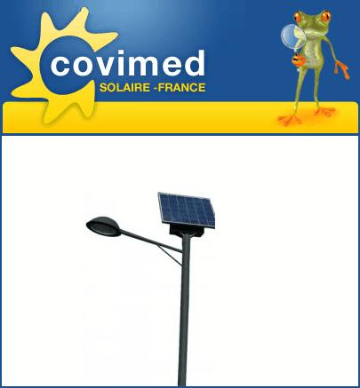 Réverbères solaires pour espaces publics