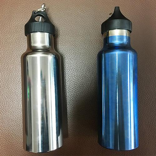 Титановая бутылка - Чистый титан, Полировка анодирование одной спортивной бутылки воды, 70x220 мм, 6