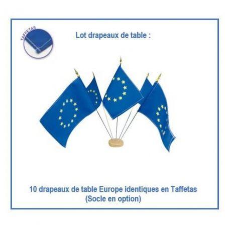 Lot Drapeaux Union Européenne De Table - Cérémonies Officielles