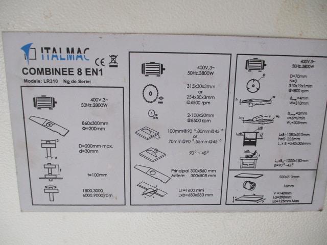 COMBINE ITALMAC LR 310 - Machine combiné Bois