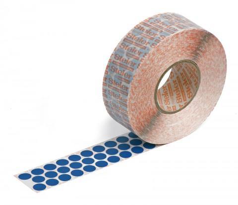 blue self-adhesive fabric marking dots 12 mm - coloured fabric, Steierform 87-67401