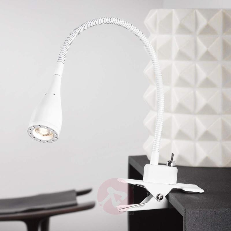 Flexible LED clip lamp Mento, white - Table Lamps