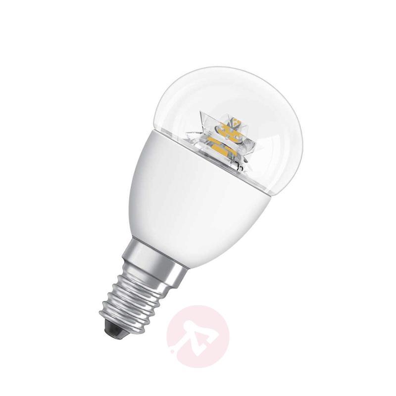 E14 6W 827 LED tear bulb Star clear - light-bulbs