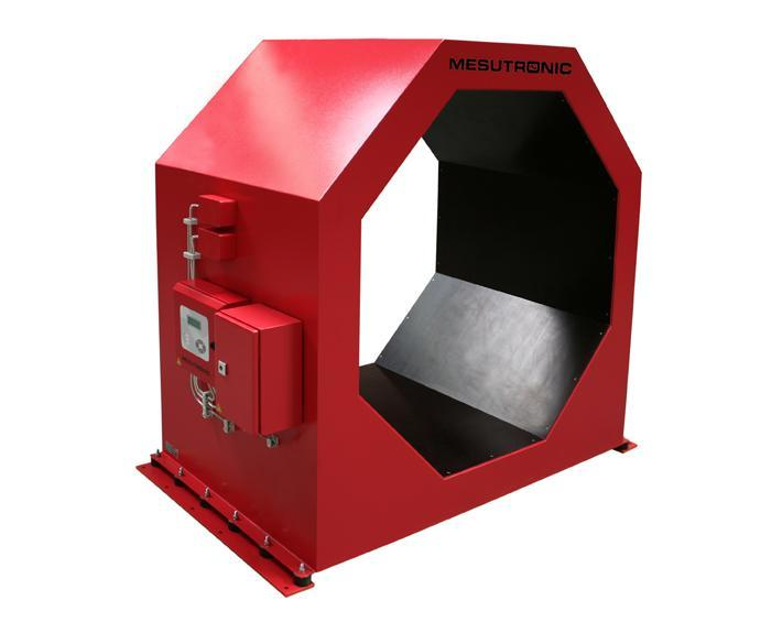 Octagonal tunnel metal detector for the inspection of wood