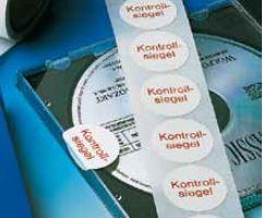 "foil seal, white, with imprint: ""Kontrollsiegel"", 30 mm dia. - made from Steierform 87-80100"
