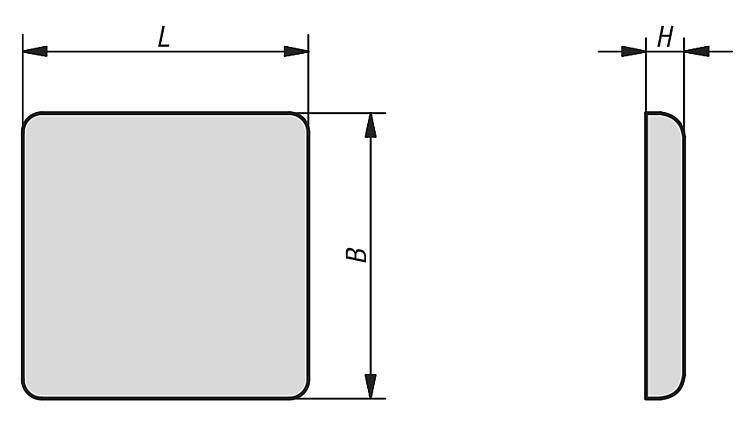 Cache de recouvrement type B et type I - Caches